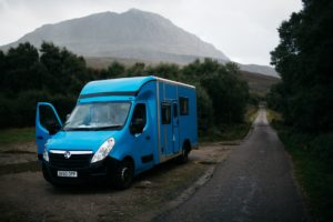 Finisterre travel Scotland with Baloo